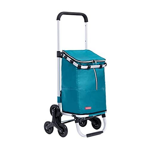 LIXBB YANGLOU-Carrito de Compras silencioso Plegable- Carrito Ajustable de Tres velocidades Carrito de Compras Escaleras de Escalada Plegables Trolley portátil para Toda la Familia XBYZDGUC-5