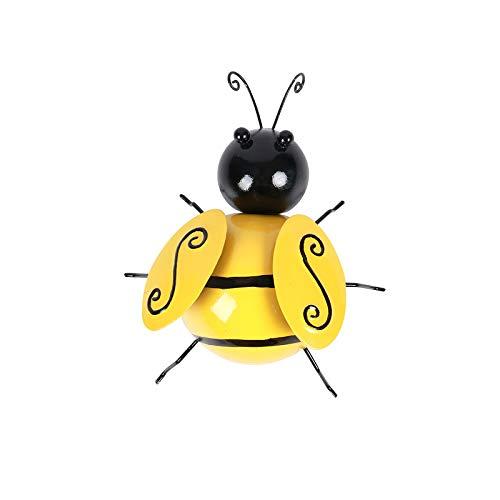 UTDKLPBXAQ 4Pcs Wasp Bee Wall Decorations Cute Bee Models Painted Iron Animal Crafts for Room Decoration, Perfect Decoration Crafts