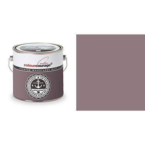 2,5 Liter Colourcourage Premium Wandfarbe Dark Aubergine Aubergine Violett   L719778600   geruchslos   tropf- und spritzgehemmt