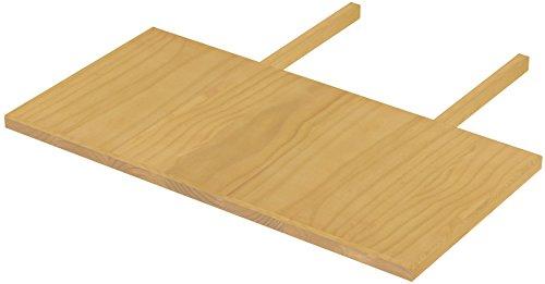 Brasilmöbel blat 50 x 100 dąb jasny Rio Classiko lub Rio Kanto – przedłużenie stołu z pinii z prawdziwego drewna – rozmiar i kolor do wyboru – do stołu do jadalni, stół drewniany, stół rozkładany