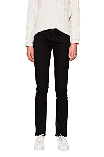 ESPRIT Damen 997EE1B817 Straight Jeans, Schwarz (Black 001), W30/L34