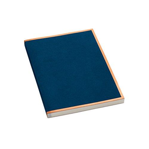 Semikolon (355810) Notizbuch metallic A5 Kupfer-Kante marine (blau) liniert - Mit 200 perforierten Seiten - Efalineinband mit Metallic-Effekt