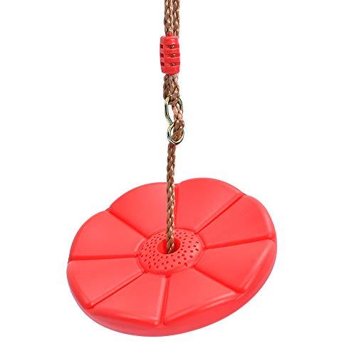 Meet World Heavy Duty Plastic Tree Swing - Disco Altalena di Corda Aggiunte & Sostituzioni - Attrezzatura per Giochi All'aperto,Rosso