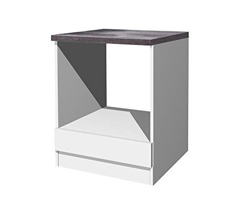 Flex-Well Herdumbauschrank LUCCA | Ofenschrank für Backofen | Breite 60 cm | Weiß