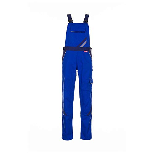 Planam Damen Latzhose Highline, größe 46, zink, kornblau/marine/mehrfarbig, 2338046