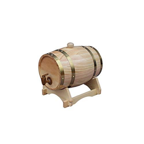 HWhome Color Madera 1.5L/3L/5L/10L/20L/25L/30L/50L Dispensador De Agua De Barril De Roble For Guardar Su Propio Whisky, Cerveza, Vino, Borbón, Brandy, Salsa Caliente Y Más(Size:1.5L)