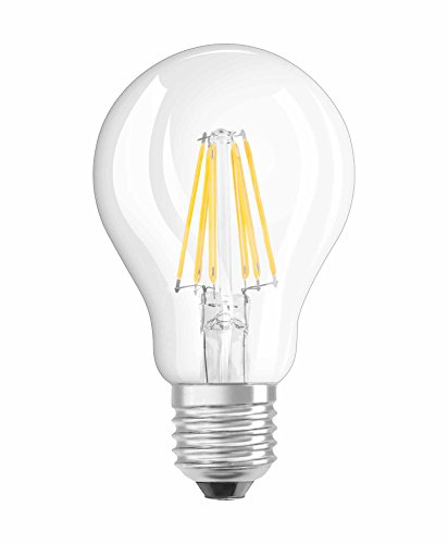 Neolux LED Classic A, in Kolbenform mit E27-Sockel, Nicht Dimmbar, Ersetzt 60 Watt, Filamentstil Klar, Warmweiß - 2700 Kelvin, 10er-Pack