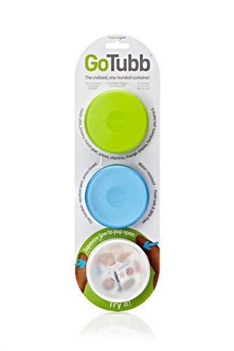 humangear Go Tubb - Juego de recipientes, 3 Piezas x 70 ml, Multicolor