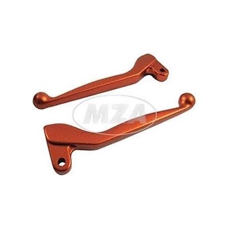 Handhebel Set Simson Alu Massiv Bremshebel Kupplungshebel Auch Für Ausführung Mit Bremslichtschalter Farbe Orange S51 S53 Sr50 Baumarkt