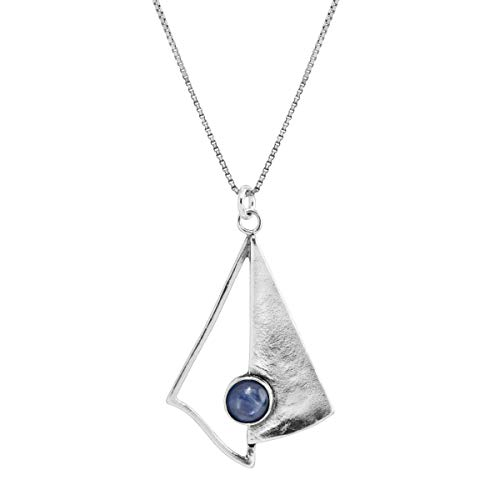 Silpada 'Fly a Kyanite' Natural Kyanite Kite-Shaped Pendant Necklace in Sterling Silver, 18