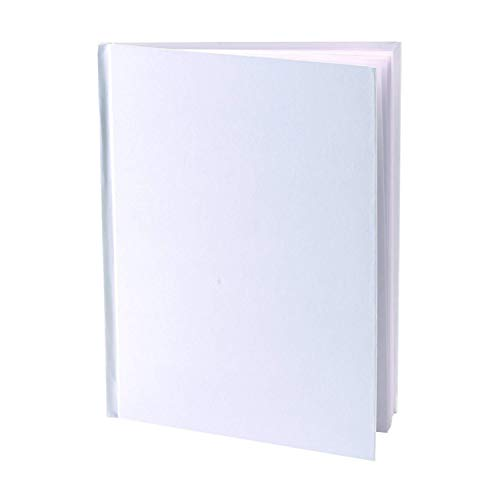 Blank Books (Pack of 6) - 8.5' W x 11' H Hardcover with Unlined White Pages - 32 Pages (16 sheets) per book for Kids, Students, Adults and All Ages, Creative Story, Sketches, Book Making Kit and More