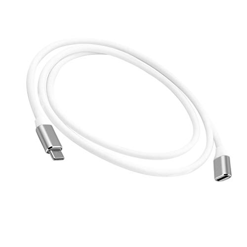 Huilongxin Tipo C Macho a Hembra Cable de extensión de Datos de vídeo Extensión de Cable alargador de Cable de Conector, Gris