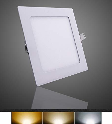Downlight LED Panel Empotrable Cuadrado, iluminacion 6W 9W 12W 15W 18W 25W,...