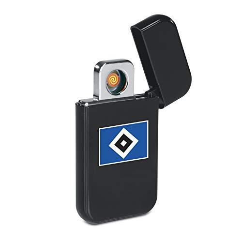 Hamburger SV USB Feuerzeug Glühspirale | Elektronisches USB-Feuerzeug aufladbar | HSV Elektronisches Feuerzeug Fanartikel aus dem Hamburger Fanshop [Schwarz]