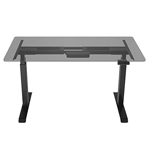 AITERMINAL Electric Standing Desk Frame Dual Motor Height Adjustable Desk Motorized Stand Up Desk-Black(Frame Only)
