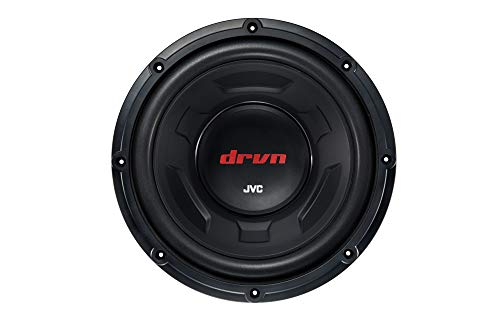 JVC CW-DR124 DRVN 12  4-ohm 350 Watt Car Audio Subwoofer- Single (Black) with Dependable Low-Frequency Punch