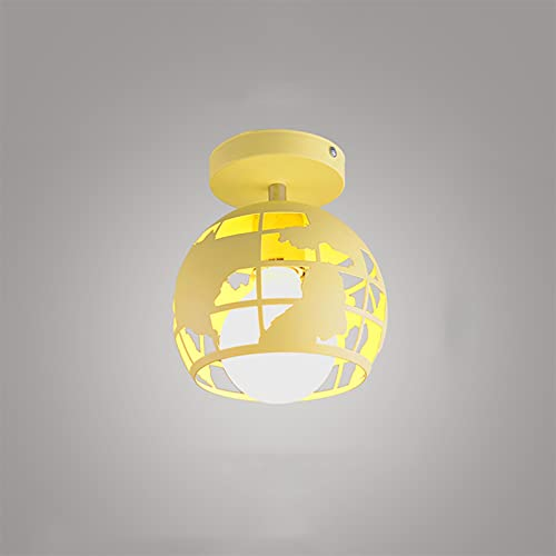 Cabezas individuales / 4-luces Forma de tierra Mini E27 Edison Fixtures Lámpara de techo ligero Iluminación rústica americana para hall de entrada Dormitorio Dormitorio Sala de estar Oficina Balcón