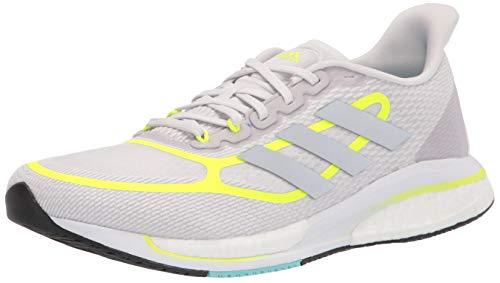 adidas womens Supernova + Dash Grey/Solar Yellow/White 5