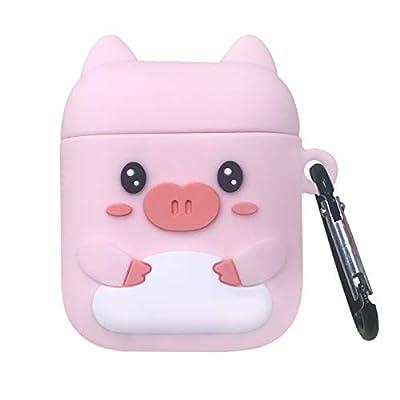 Amazon - Save 40%: Kawaii Airpods 2/1 Case Cute 3D Animal Fun Pink Pig Anime Cartoon Chara…
