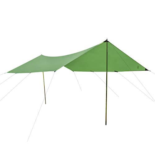 CampAir Tarp 3x4 Sonnenschutz Rechteckig, Robustes Gewebe 300 x 400 cm, UV Schutz, Grün