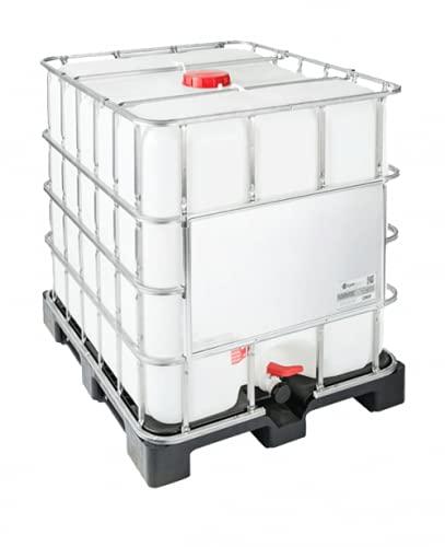 DIE BOX FABRIK IBC Container 1000 Liter NEU | PE-Palette | Einfüllöffnung: 225 mm | Schiebehahnventil 50mm | IBC Tank | Wassertank | Regenwassertank