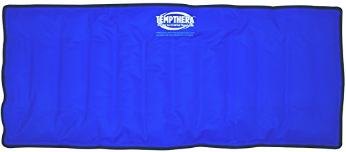 Tempthera Reusable Hot and Cold Gel Packs for Therapy, Wrap for Pain Relief (Back, Shoulder, Neck, Arm, Leg) - 22 x 13 Inch (Extra Large Size) - 1 Count - Blue