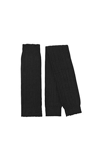 ESPRIT Damen Leg Warmers Rib, Schurwollmischung, 1 Paar, Schwarz (Black 3000), Größe: ONESIZE