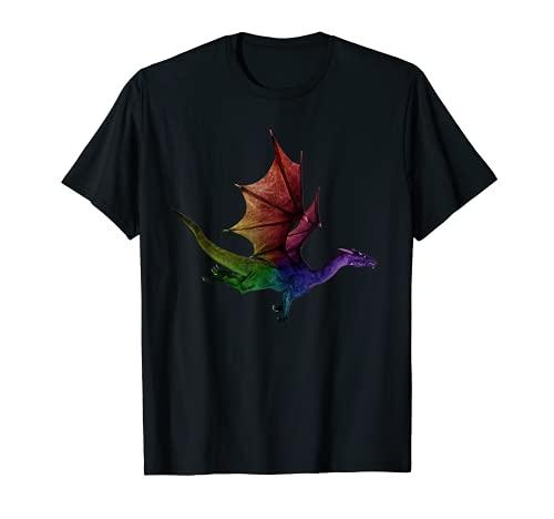 El mejor regalo del arco iris del dragón volador del dragón de la acuarela Camiseta