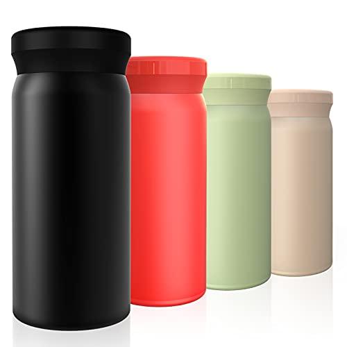 leegoal Termo con aislamiento al vacío, taza de bolsillo de 6 onzas a prueba de fugas de acero inoxidable, taza térmica de agua para niños, taza de viaje para interior y exterior
