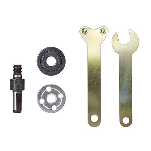 Varilla de conexión de amoladora angular de conversión de taladro eléctrico de 10mm para disco de corte, rueda de pulido, adaptador de soporte de manija de metales