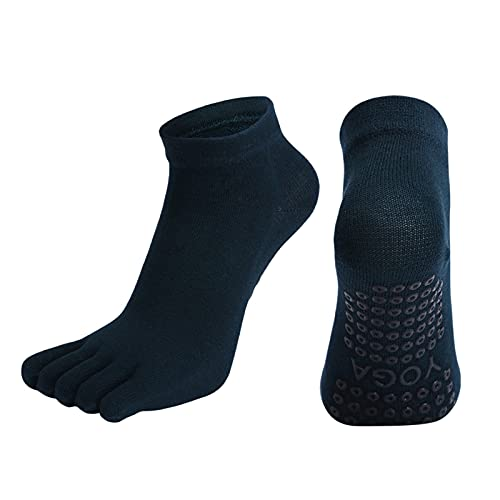 calcetines de dedo del pie para las mujeres Mujeres transpirables pilates calcetines antideslizante cinco dedo dedo yoga calcetines de algodón de secado rápido damas ballet elasticidad gimnasia calcet