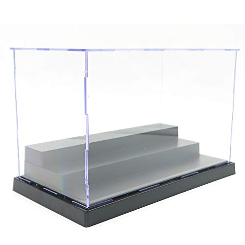 ELEpure 3 Tier Clear Acrylic Display Box Case Stand Assemble Countertop Box Storage Cube Organizer Dustproof Protection Showcase for Action Pop Figures Collectibles Toys, 8.3x4.3x5.1inch/21x11x13cm