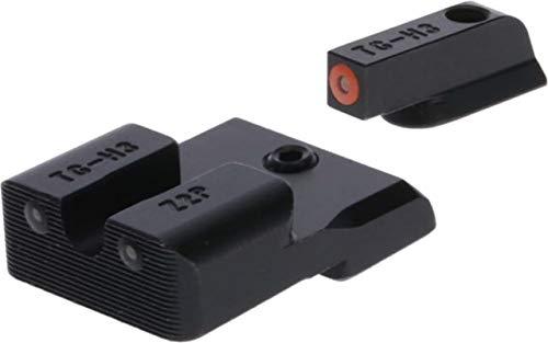 TRUGLO Tritium Pro Glow-in-The-Dark Handgun Night Sights for CZ Pistols, CZ P10, Orange Ring