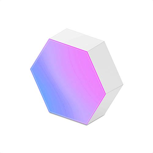 Cololight Hexagon Light Panel for DIY Smart LED Lamp Works with Alexa, Google Assistant Without Power Base, 1pc Light Block