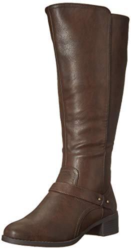 Easy Street Women's Jewel Plus Mid Calf Boot, Brown, 11 M US
