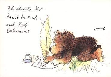 Janosch Postkarte Ich schreibe Dir?