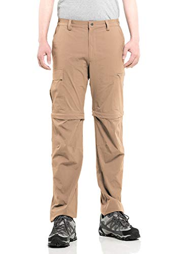 Cycorld Herren Wanderhose Outdoorhose, Atmungsaktiv Stretch Herren Trekkinghose mit 5 Tiefe Taschen (Khaki, M)