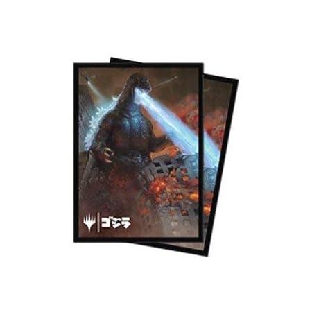 マジック:ザ・ギャザリング MTG公式サプライ 「イコリア:巨獣の棲処」 怪獣イラスト デッキプロテクタースリーブ 怪獣王、ゴジラ 100枚