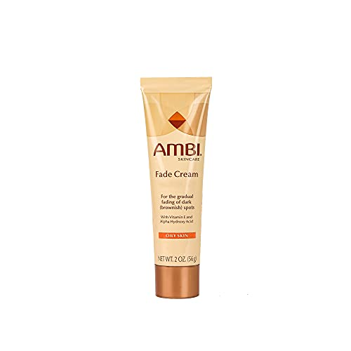 Ambi Skincare Fade Cream for Oily Skin   Dark Spot Remover for Face and Body   Treats Skin Blemishes & Discoloration   Improves Hyperpigmentation   2 Oz (56 g) - Packaging May Vary