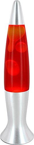Lavalampe, der HIT der 70er - mit gelbem Wachs und roter Flüssigkeit