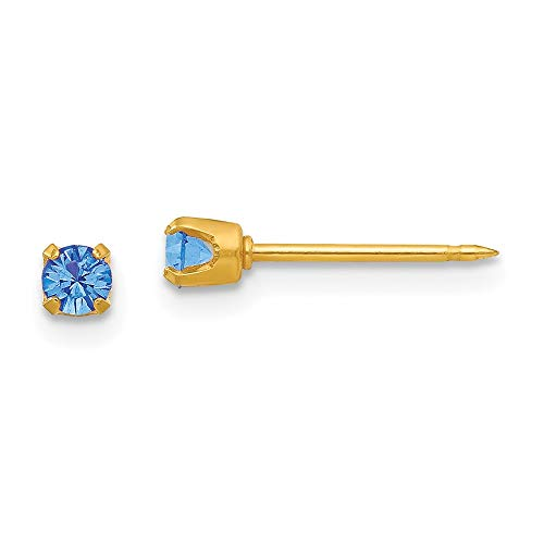 Inverness 24ct Gold Plated September Crystal Birthstone Earrings