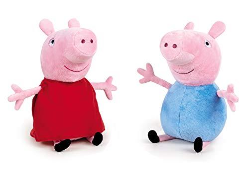 Peppa Pig - Pack de 2 Peluches Peppa Pig y George 20 centímetros - Calidad Super Soft