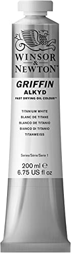Product Image of the Winsor & Newton Griffin Alkyd Fast Drying Oil Color Tube, Titanium White, 200-ml Tube