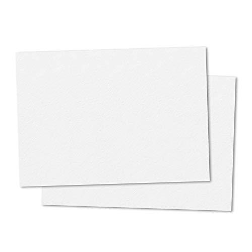 50 hojas, A3 300 g/m² Cartulinas Blancas Carton Colores - Blanco