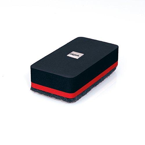 SIGEL GL187 Effaceur à sec, aimanté, 9 x 4,5 cm, noir