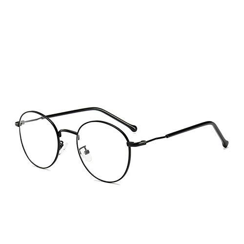 GFYC Occhiali da vista personalizzati con lenti asferiche ovali Occhiali da vista da donna per studenti Occhiali da vista per miopi -Nero_0