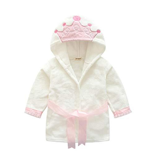 LEYUANA Kinder Bademantel, Mädchen Jungen Kleidung Roben Weiche Samt Robe Pyjama Koralle Kinder Kleid Baby Kleidung 4T D.