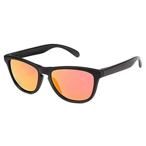 Sunglass Fashion Vintage Black Color Deportes Gafas de Sol Polarizadas TAC Lente UV400 Protección de conducción Ciclismo Corriendo Pesca Golf (Color : Red)