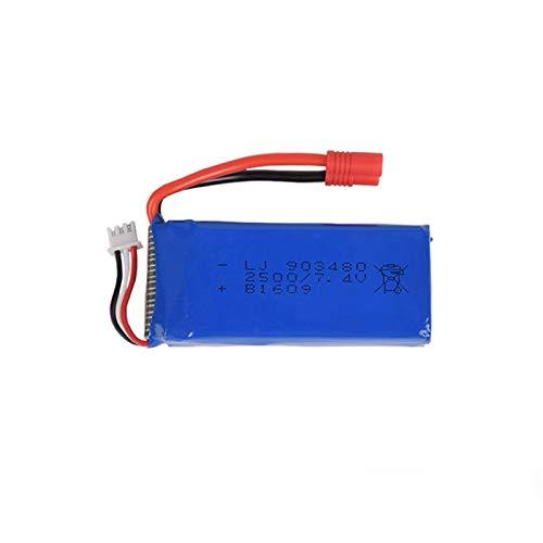 Grehod Batteria Adatta HQ899 7.4V 2500mAh per Syma X8C X8W X8G X8HW X8HC Batteria per Elicottero Drone aggiornamento Batteria al Litio di Grande capacità SMPlug