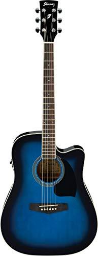 Ibanez PF15ECE-TBS Guitarra electroacústica, Transparente...